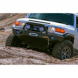 Expedition One FJCFB100_KD Trail Series Kodiak Front Bumper for Toyota FJ Cruiser 2007-2014 - Bare Steel