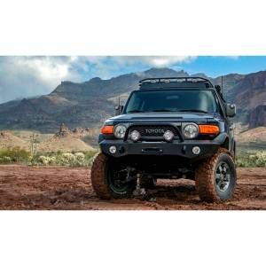 Expedition One FJCFB100_KD_PC Trail Series Kodiak Front Bumper for Toyota FJ Cruiser 2007-2014 - Textured Black