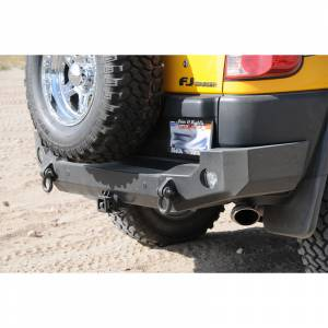 Expedition One FJCRB100_STC_PC Trail Series Rear Bumper with Tire Carrier for Toyota FJ Cruiser 2010-2017 - Textured Black