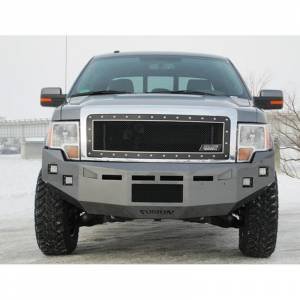Shop Bumpers By Vehicle - Ford F150 Eco-Boost - Fusion Bumpers - Fusion 0914F150FBEB Front Bumper for Ford F150 EcoBoost 2009-2014