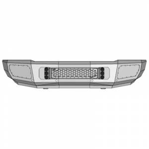 Flog Industries FISD-C2535-1518F-S Front Bumper with Sensor Holes for Chevy Silverado 2500HD/3500 2015-2018