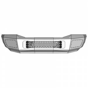 Flog Industries FISD-D2535-0609F-S Front Bumper with Sensor Holes for Dodge Ram 2500/3500 2006-2009