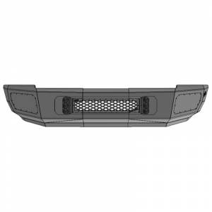 Flog Industries FISD-D2535-1018F-S Front Bumper with Sensor Holes for Dodge Ram 2500/3500 2010-2018