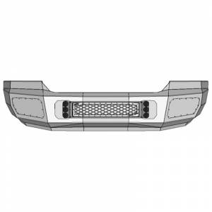 Flog Industries - Flog Industries FISD-G2535-1518F-S Front Bumper with Sensor Holes for GMC Sierra 2500 HD/3500 HD 2015-2018
