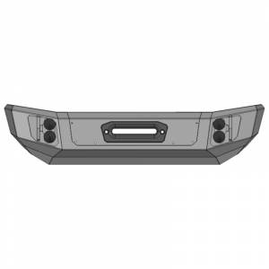 Jeep Bumpers - Flog Industries - Flog Industries - Flog Industries FISD-JJK-0718F-STBY-WR Stubby Winch Front Bumper for Jeep Wrangler JK 2007-2018