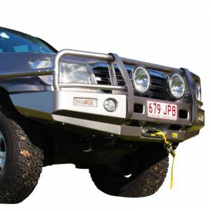 Truck Bumpers - TJM - TJM - TJM 070SB13N81A Outback T13 Front Bumper with Grille Guard for Toyota Land Cruiser 1998-2007