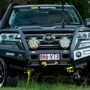 Truck Bumpers - TJM - TJM - TJM 070SB13N82C Outback T13 Front Bumper with Grille Guard for Toyota Land Cruiser 2016-2020