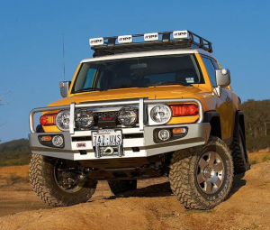 ARB 3420210 Deluxe Winch Front Bumper with Bull Bar for Toyota FJ Cruiser 2007-2014