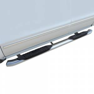 Raptor - Raptor 1501-0581 OE Style Cab Length Nerf Bars for Chevy Silverado 1500 Standard Cab 2007-2018 - Polished Stainless Steel - Image 1