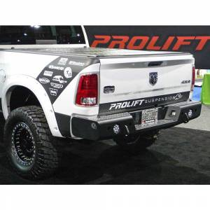 Truck Bumpers - Trail Ready - TrailReady - TrailReady 37501 Rear Bumper with D-Ring Tabs for Dodge Ram 2500/3500 2010-2018