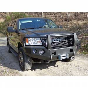 Shop Bumpers By Vehicle - Ford Expedition - TrailReady - TrailReady 12230F Winch Front Bumper with Full Guard for Ford Expedition 2015-2017