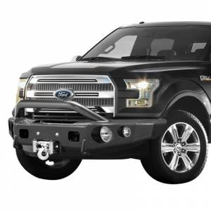 Shop Bumpers By Vehicle - Ford Expedition - TrailReady - TrailReady 12225P Winch Front Bumper with Pre-Runner Guard for Ford Expedition 2007-2014