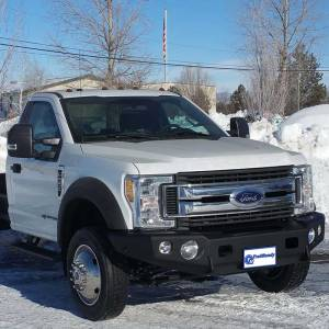 Shop Bumpers By Vehicle - Ford F450/F550 Super Duty - TrailReady - TrailReady 12322B Winch Front Bumper for Ford F450/F550 2011-2016