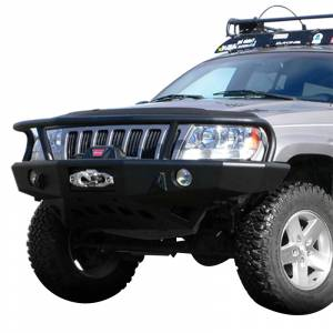 Shop Bumpers By Vehicle - Jeep Grand Cherokee - TrailReady - TrailReady 18000G Winch Front Bumper with Full Guard for Jeep Grand Cherokee 1999-2004