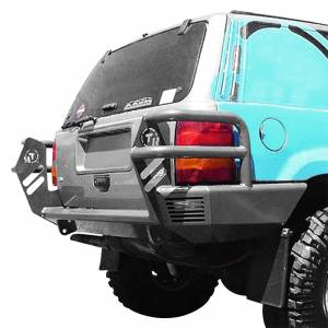 Shop Bumpers By Vehicle - Jeep Grand Cherokee - TrailReady - TrailReady 2200G Rear Bumper with Light Guards for Jeep Grand Cherokee ZJ 1993-1998