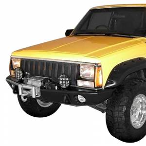 Shop Bumpers By Vehicle - Jeep Cherokee - TrailReady - TrailReady 5000B Winch Front Bumper for Jeep Cherokee 1983-2001