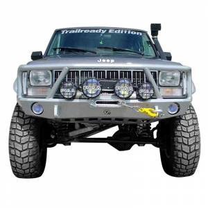 Shop Bumpers By Vehicle - Jeep Cherokee - TrailReady - TrailReady 5000G Winch Front Bumper with Full Guard for Jeep Cherokee 1983-2001