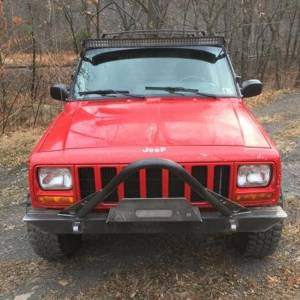 Shop Bumpers By Vehicle - Jeep Cherokee - Affordable Offroad - Affordable Offroad Affstingwinch Stinger Winch Front Bumper for Jeep Cherokee XJ/Comanche 1984-2001