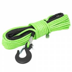 """Exterior Accessories - Winch Accessories - Rough Country - Rough Country RS142 1/4"""" Synthetic Winch Rope - Green"""