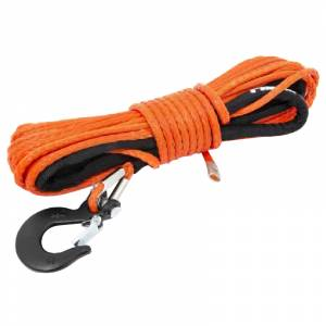 """Exterior Accessories - Winch Accessories - Rough Country - Rough Country RS143 1/4"""" Synthetic Winch Rope - Orange"""