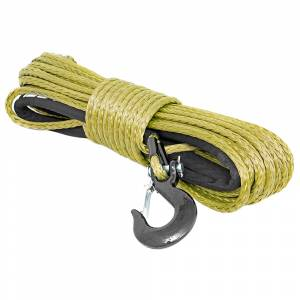 Exterior Accessories - Winch Accessories - Rough Country - Rough Country RS137 3/8 Synthetic Winch Rope - Army Green