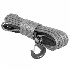 Exterior Accessories - Winch Accessories - Rough Country - Rough Country RS117 3/8 Synthetic Winch Rope - Grey