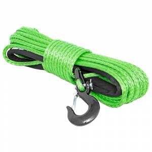 Exterior Accessories - Winch Accessories - Rough Country - Rough Country RS113 3/8 Synthetic Winch Rope - Green