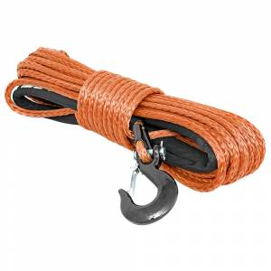 Exterior Accessories - Winch Accessories - Rough Country - Rough Country RS111 3/8 Synthetic Winch Rope - Orange