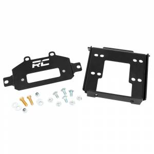 Exterior Accessories - Winch Accessories - Rough Country - Rough Country 93042 Winch Mounting Plate for Polaris RZR 1000/1000XP 2014-2021