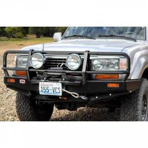 Shop Bumpers By Vehicle - Toyota Land Cruiser - ARB 4x4 Accessories - ARB 3411050 Deluxe Winch Front Bumper with Bull Bar for Toyota Land Cruiser 1990-1997