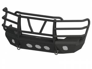 Bodyguard - Bodyguard AEC07FFRG Traditional Extreme Front Bumper Factory fog cutouts Standard skid plate Gloss Black Chevy Tahoe/Suburban 1500 2007-2014