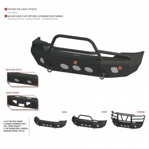 Bodyguard - Bodyguard AEF11B Traditional Extreme Front Bumper for Ford F250/F350 2011-2016 - Image 3
