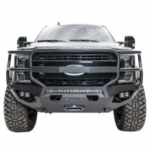 Fab Fours FS11-X2550-1 Matrix Winch Front Bumper with Full Guard and Sensor Holes for Ford F-250/F-350 2011-2016
