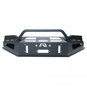 Fab Fours - Fab Fours CS19-RS4062-1 Red Steel Winch Front Bumper with Pre-Runner Guard for Chevy Silverado 1500 2019-2021