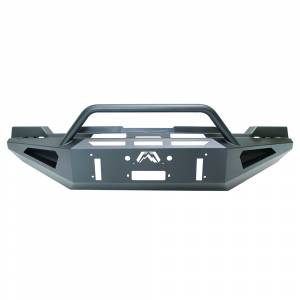 Fab Fours - Fab Fours GM20-RS5062-1 Red Steel Winch Front Bumper with Pre-Runner Guard for GMC Sierra 2500 HD/3500 2020