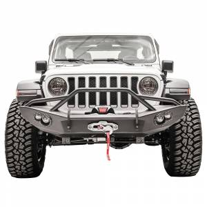 Fab Fours JL18-B4651-1 Lifestyle Winch Front Bumper for Jeep Wrangler JL 2018-2020