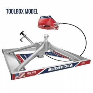 Fifth Wheel Hitches - Andersen Ultimate Connection Fifth Wheel Hitch - Andersen - Andersen 3221-TBX Flatbed Mount Ultimate 5th Wheel Connection Toolbox Version with Funnel