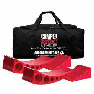 Towing Accessories - Camper Leveler Kits - Andersen - Andersen3604-2PKREVBCamper Leveler Kit 2 Levelers + 2 Chocks with Duffel Bag