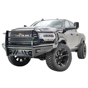 Truck Bumpers - Fab Fours Black Steel