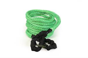 "Recovery Tow Ropes and Winch Lines - VooDoo Offroad Recovery Ropes - VooDoo Offroad - VooDoo Offroad 1300002A 7/8"" x 30' Truck/Jeep Kinetic Recovery Rope Green with rope bag"