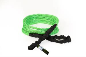 "Recovery Tow Ropes and Winch Lines - VooDoo Offroad Recovery Ropes - VooDoo Offroad - VooDoo Offroad 1300007A 1/2"" x 20' UTV Kinetic Recovery Rope Green"