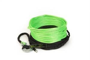 """Recovery Tow Ropes and Winch Lines - VooDoo Offroad Recovery Ropes - VooDoo Offroad - VooDoo Offroad 1400001A 1/4"""" x 50' UTV Winch Line Green"""