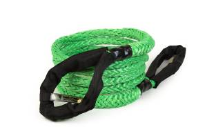 "Recovery Tow Ropes and Winch Lines - VooDoo Offroad Recovery Ropes - VooDoo Offroad - VooDoo Offroad 1300001A 7/8"" x 20' Truck/Jeep Kinetic Recovery Rope Green with rope bag"