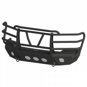 Bodyguard - Bodyguard AEC08AFRG Traditional Extreme Front Bumper Factory fog cutouts Standard skid plate Gloss Black Chevy 1500 2008-2013