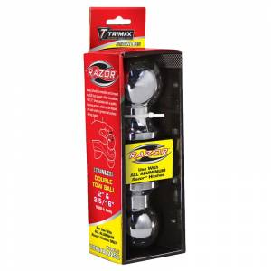 """Towing Accessories - Hitch Balls - Trimax - Trimax TDBSXAL22516 2"""" Female and 2-5/16"""" Male Double Tow Ball - Stainless Steel"""