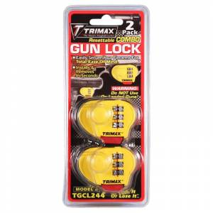 Towing Accessories - Locks - Trimax - Trimax TGCL244 Max Security Combination Gun Lock - 2 Pack