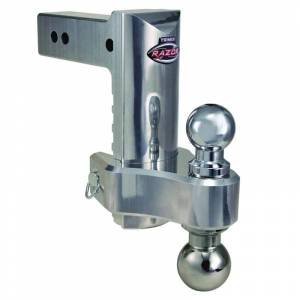 """Towing Accessories - Ball Mounts - Trimax - Trimax TRZ8ALHD 8"""" Adjustable Drop Hitch with Pin and Clip - Aluminum"""