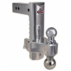 """Towing Accessories - Ball Mounts - Trimax - Trimax TRZ10ALHD 10"""" Adjustable Drop Hitch with Pin and Clip - Aluminum"""