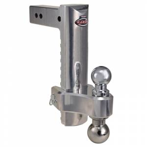"""Towing Accessories - Ball Mounts - Trimax - Trimax TRZ12ALHD 12"""" Adjustable Drop Hitch with Pin and Clip - Aluminum"""