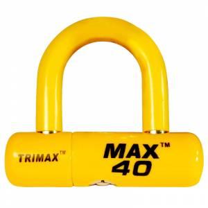 Towing Accessories - Locks - Trimax - Trimax MAX40YL General Purpose U-Lock - Yellow